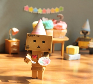 Danbo wants more cake, by, Asena Ozseyhan